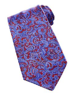 Stefano Ricci - Paisley Silk Tie, Red/Blue