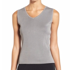 Ming Wang - V-Neck Knit Tank Top