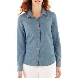 Liz Claiborne  - Long-Sleeve Denim Shirt