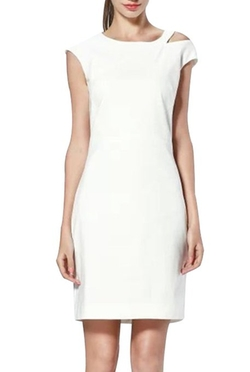 Keepinmind - Cut Out Above Knee Midi Dress
