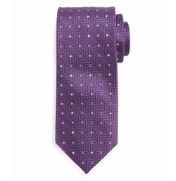 Neiman Marcus - Polka-Dot Herringbone Tie