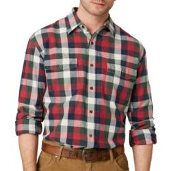 G.H. Bass - Long-Sleeve Plaid Twill Shirt