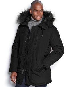 Michael Kors  - Halden Faux-Fur-Trim Hooded Down Anorak Coat