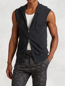 John Varvatos Star USA - French Terry Sleeveless Hoodie