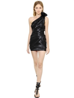Isabel Marant - Lurex & Silk Leme Draped Dress