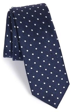 The Tie Bar - Dot Silk & Linen Tie