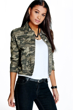Boohoo Blue - Ally Camouflage Denim Jacket