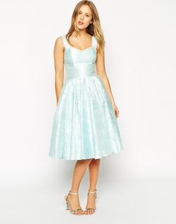 Asos Collection - Jacquard Sweetheart Neck Prom Dress