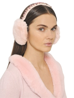 Blugirl - Crystal Rabbit Fur Ear Muffs