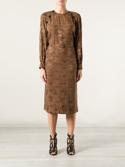 Céline Vintage   - Leopard Print Dress