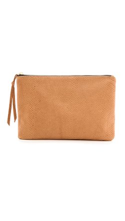 Oliveve  - Queenie Clutch Bag with Cobra Embossing