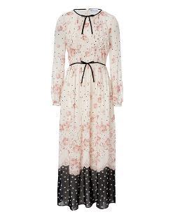Red Valentino  - Stretch Silk Floral Print Dress