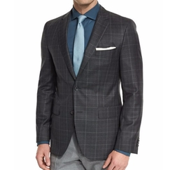 Boss Hugo Boss - Jeen Plaid Two-Button Wool Sport Coat