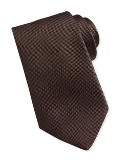 Ermenegildo Zegna  - Solid Woven Silk Tie