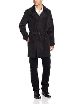Kenneth Cole - Double Breasted Belted Trench Coat