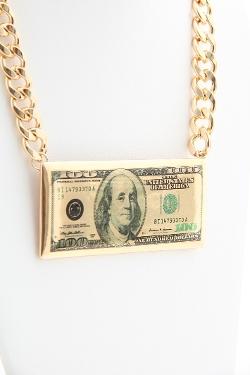 Love Melrose - 100 Dollar Bill Necklace