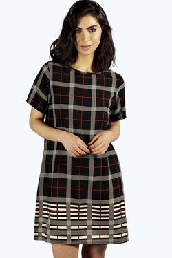 Boohoo - Lavinne Checked Shift Dress