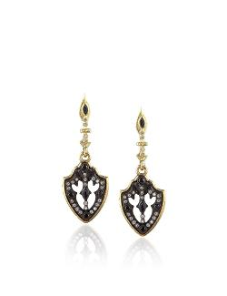 Armenta  - Midnight Sapphire Shield Earrings