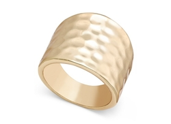 INC International Concepts  - Gold-Tone Hammered-Style Statement Ring