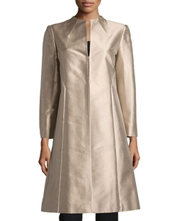 Lafayette 148 New York - Long Satin-Trim Jacket