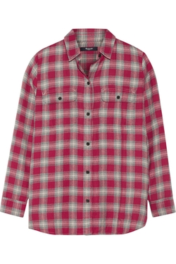 Madewell - Ex-Boyfriend Plaid Cotton-Blend Shirt