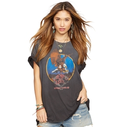 Denim & Supply Ralph Lauren - Oversized Crewneck Graphic Tee