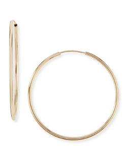 Neiman Marcus  - 14-Karat Gold Large Hoop Earrings