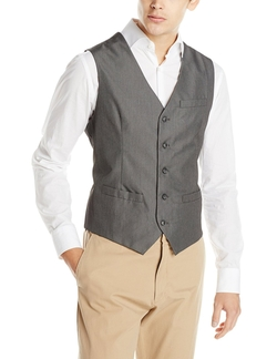 Perry Ellis - Micro Twill Heather Vest