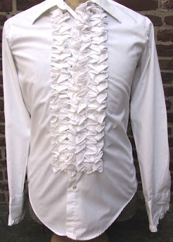 Sazz Vintage Clothing - Ruffled Tuxedo Shirt
