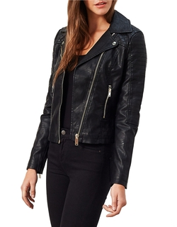 Miss Selfridge - Faux Leather Moto-Stitch Jacket
