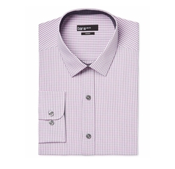 Bar III - Slim-Fit Check Dress Shirt
