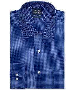 Eagle  - Non-Iron Slim-Fit Blue Check Dress Shirt