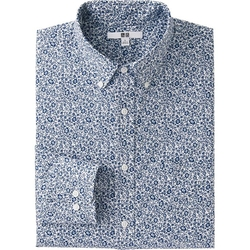 Uniqlo - Broadcloth Printed Dress Shirt