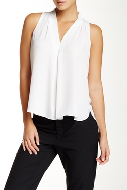 Vince Camuto - Front Pleat Sleeveless Blouse