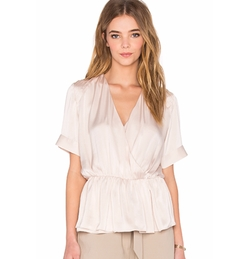 Native Stranger - Pleated Wrapped Blouse