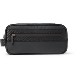 Alfred Dunhill   - Chassis Leather-Trimmed Wash Bag
