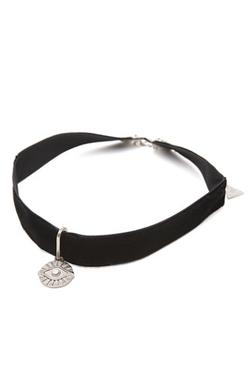 Gypsy Warrior  - Evil Eye Velvet Choker Necklace