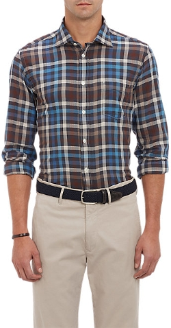 Hartford  - Plaid Herringbone Shirt