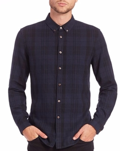 Blk Dnm - Plaid Cotton Sportshirt