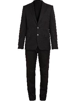 ANN DEMEULEMEESTER GRISE  - Textured Cotton Suit