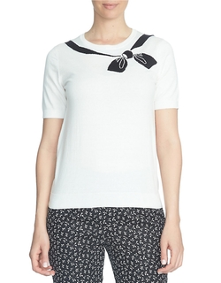 Cece - Bow-Printed T-Shirt