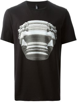 Neil Barrett  - Marble Bust Print T-Shirt