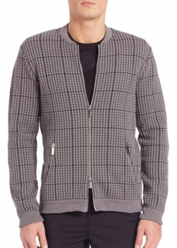 Emporio Armani  - Textured Zip-Front Cardigan