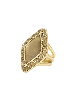 House Of Harlow 1960 Jewelry  - Sea Stones Cocktail Ring