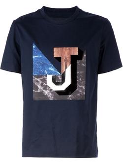 Juun.J  - Marble J Print T-Shirt
