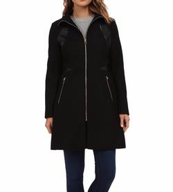 Via Spiga - Zip Front Wool Coat