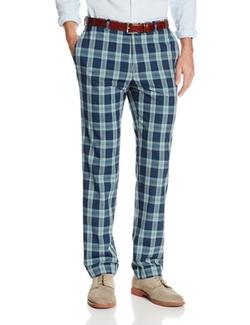 Haggar - Vintage Slim Fit Flat Front Wool Plaid Pant