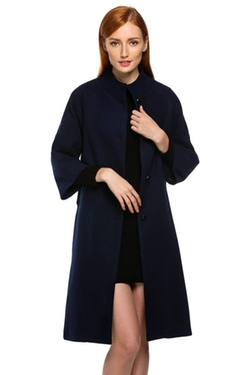 Acevog - Single Breasted Wool Trench Coat