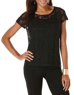 Rafaella - Geo Lace Top