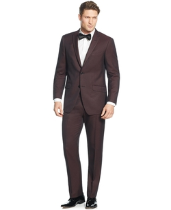 Perry Ellis - Solid Slim-Fit Suit
